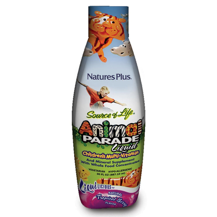 Nature's Plus Vitamins, Minerals, Herbs & More Nature's Plus Animal Parade Liquid Natural Tropical Berry Flavor 30 Fl Oz (580962451500)