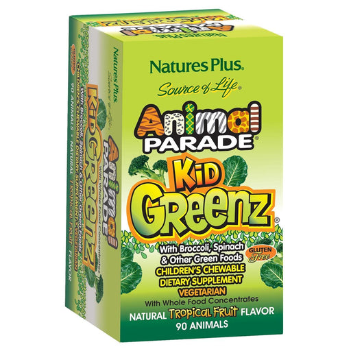 Nature's Plus Vitamins, Minerals, Herbs & More Nature's Plus Animal Parade Kid Greenz Tropical Fruit 90 Chews (580885315628)