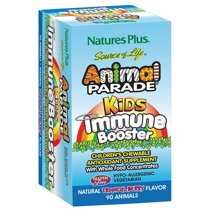 Nature's Plus Vitamins, Minerals, Herbs & More Nature's Plus Animal Parade Kids Immune Booster Tropical Berry 90 Chews (580924768300)
