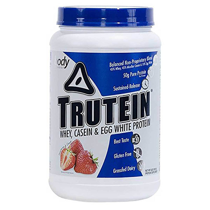 Body Nutrition Top 50 Strawberries & Cream Body Nutrition Trutein 2 Lbs (581258084396)