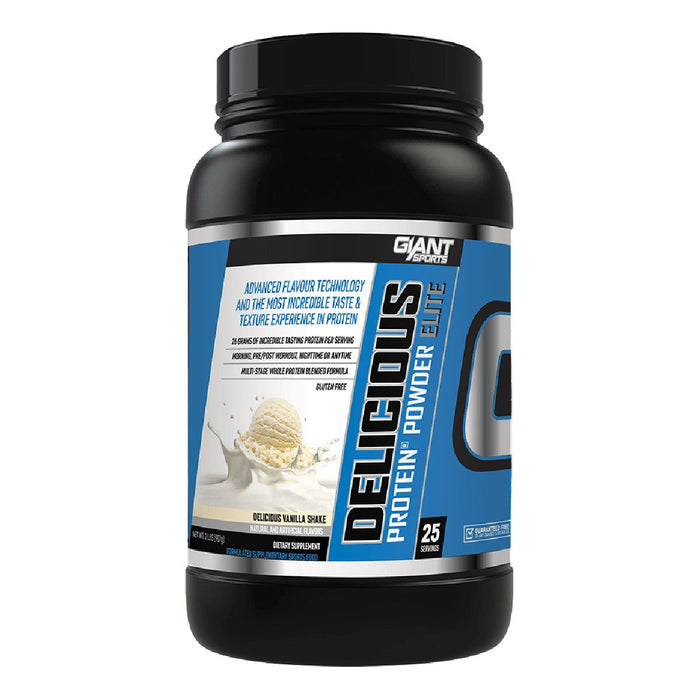 Giant Sports Products Vanilla Shake Giant Sports Products Delicious Protein Elite 2 Lbs (581427232812)