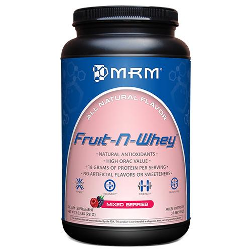 MRM Sports Nutrition & More MRM Fruit-N-Whey Mixed Berries 2.03 Lbs (580998529068)