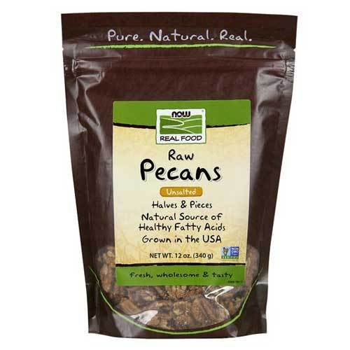 Now Foods Vitamins, Minerals, Herbs & More Now Foods Pecans Raw 12 Oz (582318161964)