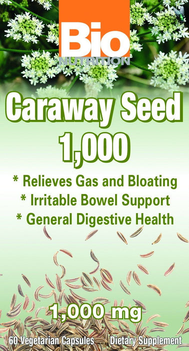 Bio Nutrition As Seen on TV Bio Nutrition Caraway Seed 1000mg 60 Vege Caps (581387517996)