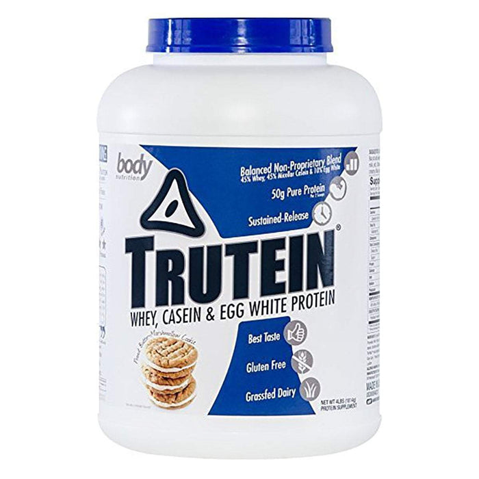 Body Nutrition Top 50 Peanut Butter Marshmallow Body Nutrition Trutein 4 Lbs (581255594028)
