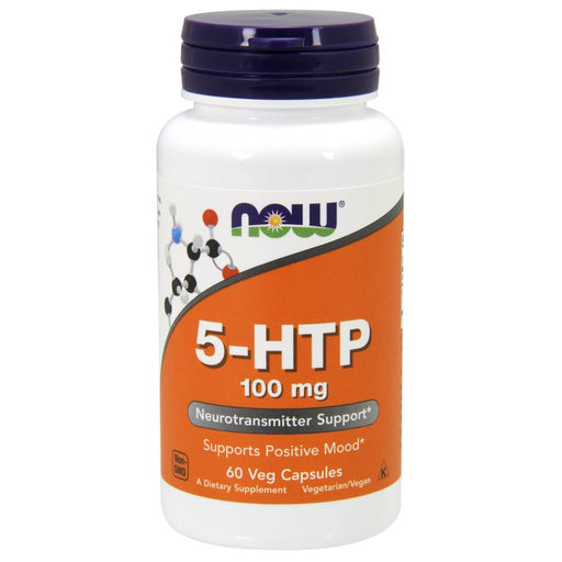 Now Foods Vitamins, Minerals, Herbs & More Now Foods 5-HTP 100mg 60 Vege Caps (582209536044)