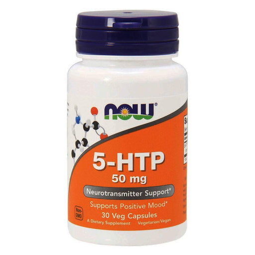 Now Foods Vitamins, Minerals, Herbs & More Now Foods 5-HTP 50mg 30 Capsules (582205898796)