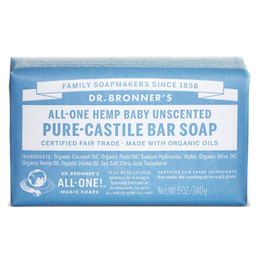 Dr. Bronner's Specialty Health Products Default Dr. Bronner's Pure Castille Bar Soap Baby Mild 5 Oz (1779463847980)