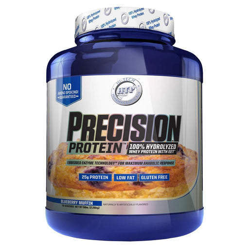 Hi-Tech Pharmaceuticals Protein Powders Blueberry Muffin Hi Tech Precision Protein 5lbs (582570344492)