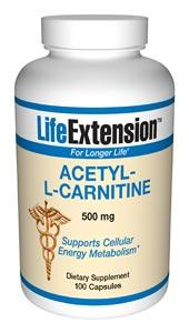 Life Extension Sports Nutrition & More Life Extension Acetyl-L-Carnitine 500mg 100 Caps (581032869932)