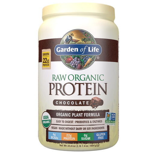 Garden of Life Sports Nutrition & More Chocolate Cacao Garden of Life Raw Protein 1.7lbs (581399052332)