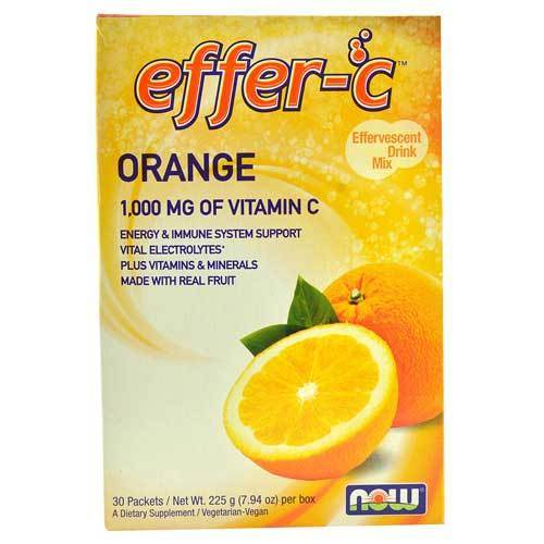 Now Foods Vitamins, Minerals, Herbs & More Now Foods Effer-C (TM) Orange Box of 30 (582165364780)
