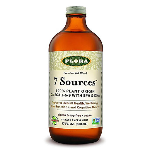 Flora (Udo's Choice) Vitamins, Minerals, Herbs & More Flora 7 Sources Oil 17 Fl Oz (581614010412)