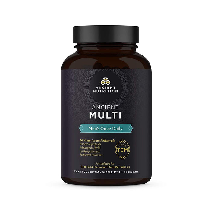 Ancient Nutrition Multi Vitamins Ancient Nutrition Men's Multi Once Daily 30C (4364443648115)