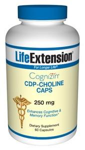 Life Extension Vitamins, Minerals, Herbs & More Life Extension CDP-Choline CAPS 250mg 60 Caps (581042208812)