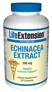 Life Extension Vitamins, Minerals, Herbs & More Life Extension Echinacea Extract 250mg 60 Caps (581052891180)