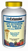 Life Extension Mix TABS with Extra Niacin without Copper 315 Tabs