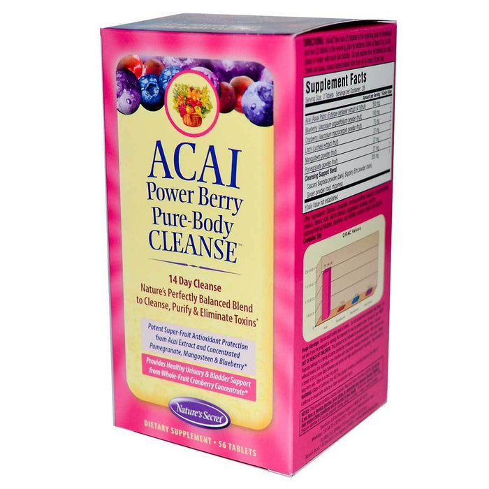 Nature's Secret Vitamins, Minerals, Herbs & More Nature's Secret Acai Power Berry Pure-Body Cleanse 56 Tabs (580476370988)
