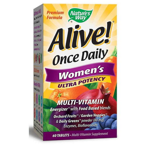 Nature's Way Vitamins, Minerals, Herbs & More Nature's Way Alive! Once Daily Women's 60 Tabs (581270044716)