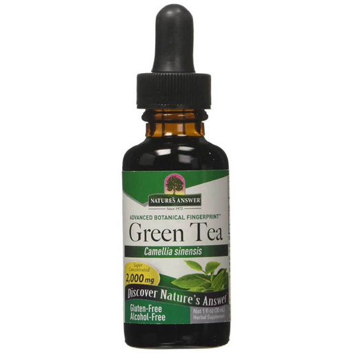 Nature's Answer Sports Nutrition & More Nature's Answer Alcohol Free Liquid Green Tea Extract 1 oz (580546199596)