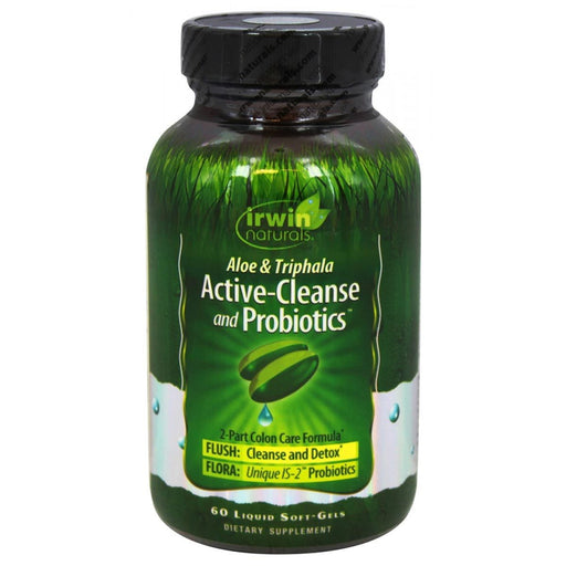 Irwin Naturals Vitamins, Minerals, Herbs & More Irwin Naturals Active-Cleanse and Probiotics 60 Liquid Soft Gels (581959352364)