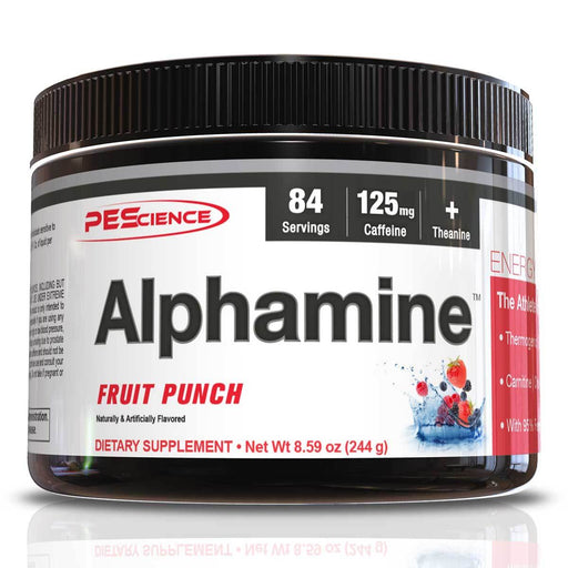 PEScience Sports Nutrition & More Fruit Punch Physique Enhancing Science Alphamine 84 Servings (581928615980)