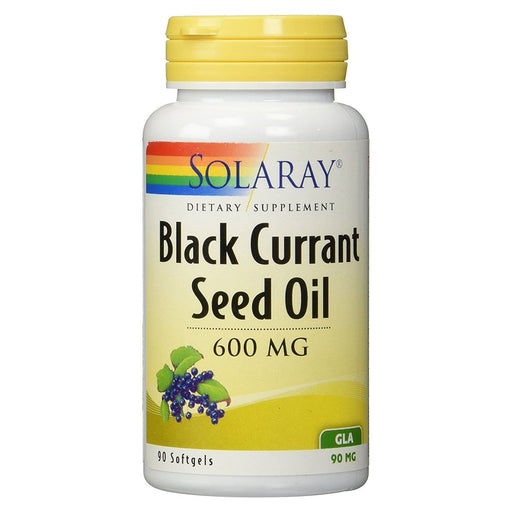 Solaray Vitamins, Minerals, Herbs & More Solaray Black Currant Seed Oil 600mg 90 Soft Gels (581377196076)