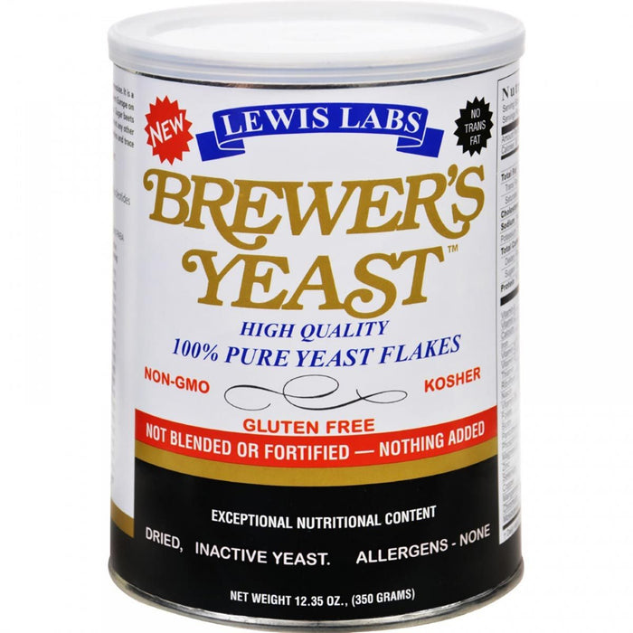 Lewis Labs Vitamins, Minerals, Herbs & More Lewis Labs Brewers Yeast 12.35 Oz (580659019820)
