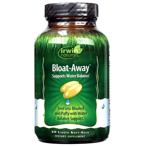 Irwin Naturals Sports Nutrition & More Irwin Naturals Bloat-Away 60 Liquid Softgels (582124175404)