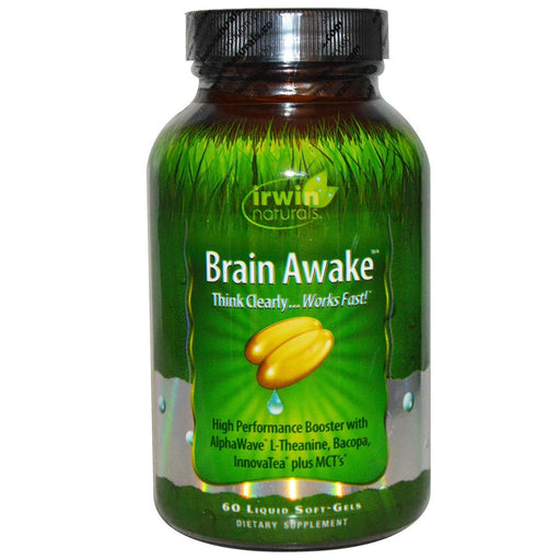 Irwin Naturals Sports Nutrition & More Irwin Naturals Brain Awake 60 Liquid Soft Gels (581961220140)