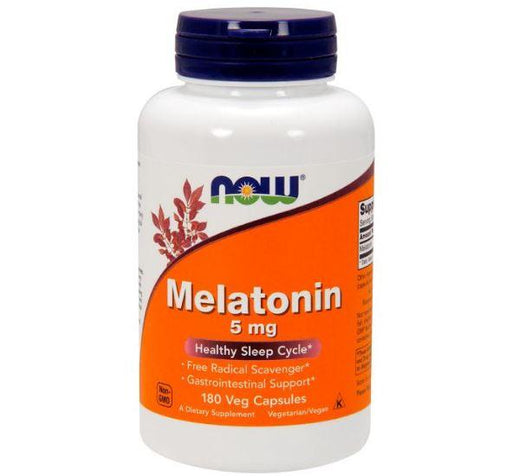 Now Foods Vitamins, Minerals, Herbs & More Now Foods Melatonin 5 Mg 180 Vegetable Capsules (582203834412)