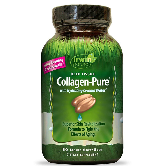 Irwin Naturals Vitamins, Minerals, Herbs & More Irwin Naturals Collagen-Pure 80 Gels (Hydrolyzed Collagen) (581610962988)