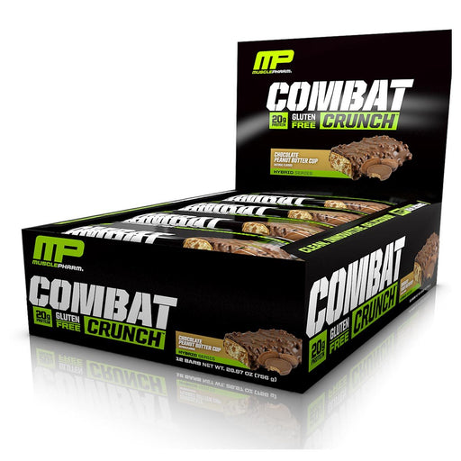 Muscle Pharm Sports Nutrition & More Chocolate Peanut Butter Cup Muscle Pharm Combat Crunch Bar 12/Box (582093996076)