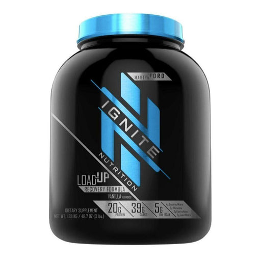 Ignite Sports Performance Recovery Vanilla Ignite Load-Up 15 Servings (4413946265715)
