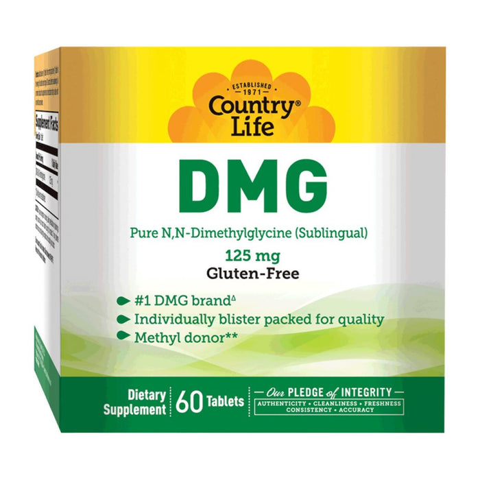 Country Life Vitamins, Minerals, Herbs & More Country Life N-Dimethylglycine 125 mg Sublingual 60 tabs (580481712172)