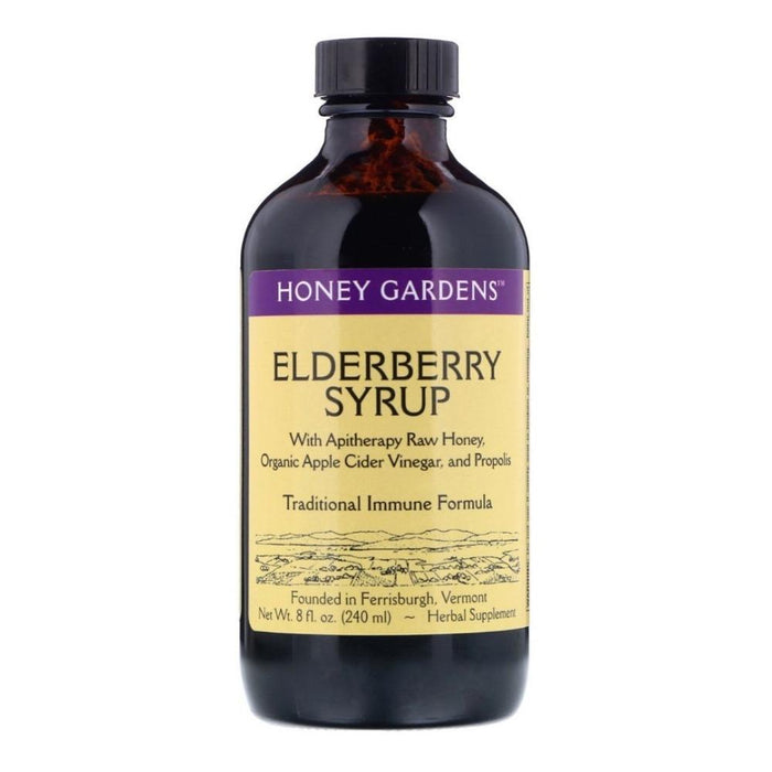 Honey Gardens Specialty Health Products Honey Gardens Elderberry Syrup 8oz (4436727562355)