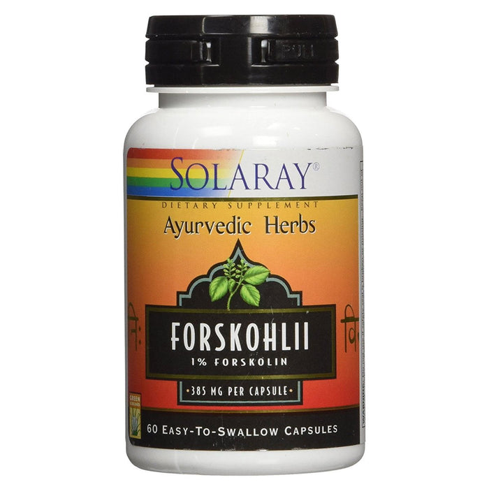 Solaray Vitamins, Minerals, Herbs & More Solaray Forskohlii Root Extract 385mg 60 Caps (580539908140)