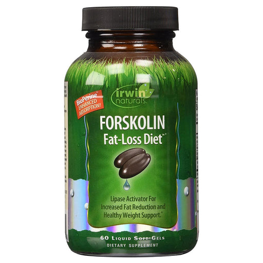 Irwin Naturals Sports Nutrition & More Irwin Naturals Forskolin Fat-Loss Diet 60 Liquid Softgels (582123716652)