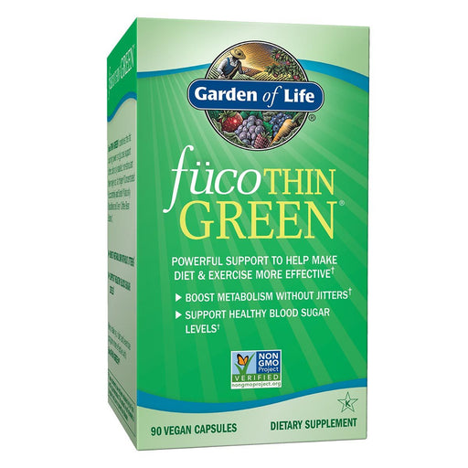 Garden of Life Sports Nutrition & More FucoTHIN Green Non-GMO 90 Vegan Caps (581583732780)