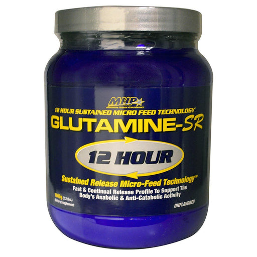MHP Sports Nutrition & More MHP Glutamine-SR 12 Hour Muscle Feeder 1000 Grams (580803985452)