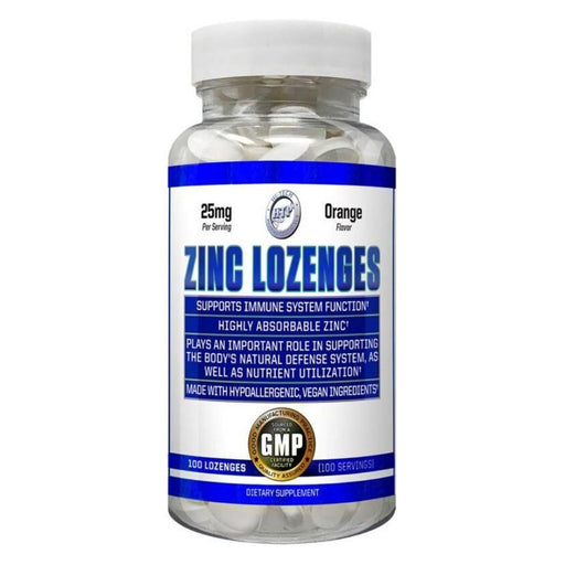 Hi-Tech Pharmaceuticals Vitamins & Minerals Hi-Tech Pharmaceuticals Zinc Lozenges 100ct (4434793791603)