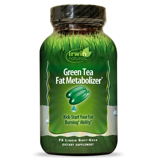 Irwin Naturals Sports Nutrition & More Irwin Naturals Green Tea Fat Metabolizer 75 Liquid Soft Gels (580737728556)