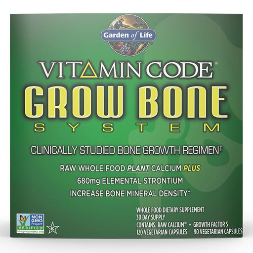 Garden of Life Vitamins, Minerals, Herbs & More Garden of Life Vitamin Code Grow Bone System 30 Day Supply (581775687724)