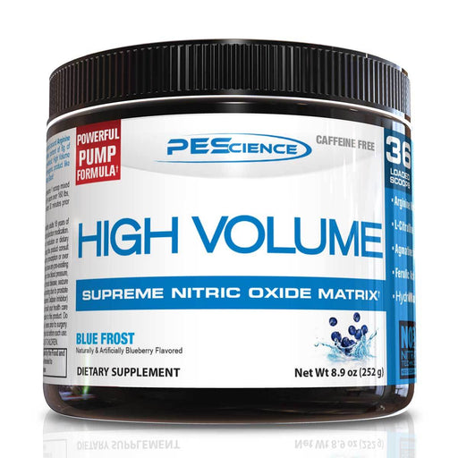 PEScience Sports Nutrition & More Blue Frost PEScience High Volume 36 Servings (582097961004)