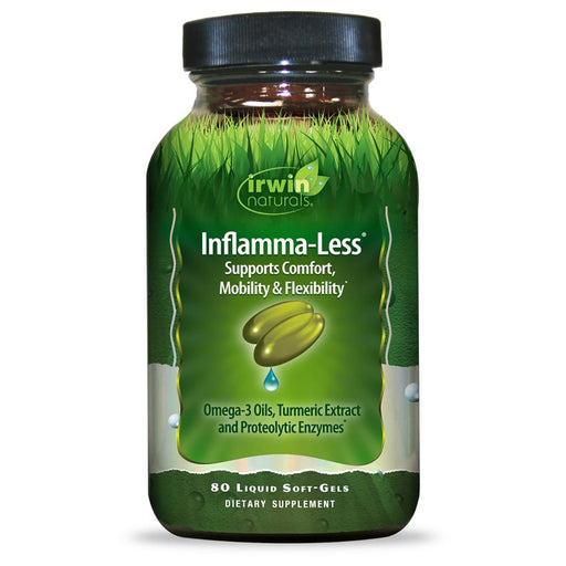 Irwin Naturals Sports Nutrition & More Irwin Naturals Inflamma-Less Tissue and Mobility Support 80 Gels (580867260460)