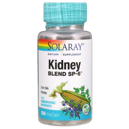 Solaray Vitamins, Minerals, Herbs & More Solaray Kidney Blend SP-6 100 Caps (580646109228)