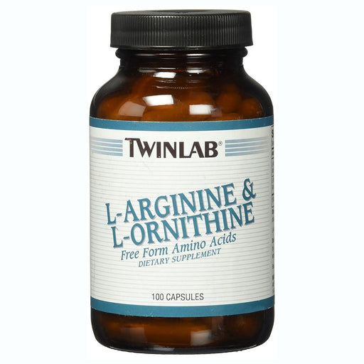 Twinlab Sports Nutrition & More TwinLab L-Arginine and L-Ornithine 750mg 100 Caps (580493017132)