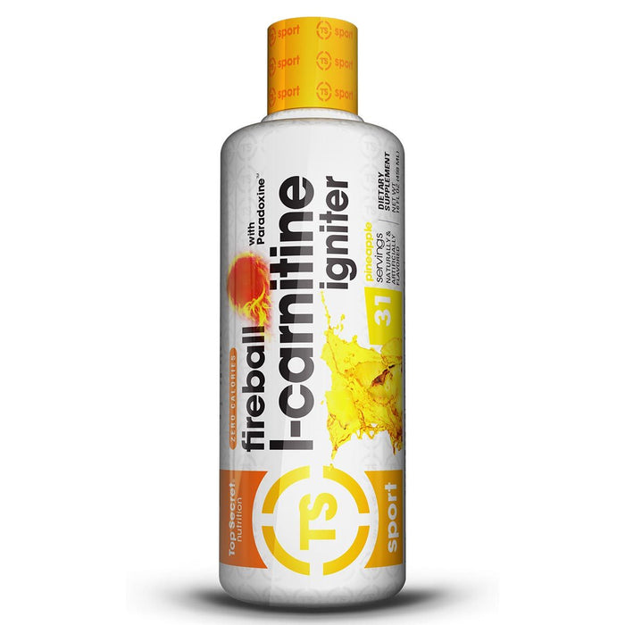TOP SECRET NUTRITION Sports Nutrition & More Pineapple Top Secret Nutrition Fireball L-Carnitine Igniter (787016646700)
