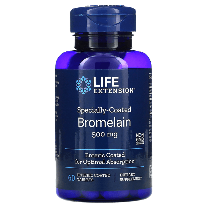 Life Extension Vitamins, Minerals, Herbs & More Life Extension Bromelain 500mg 60 Caps
