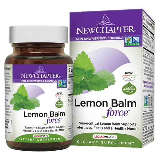 New Chapter Sports Nutrition & More New Chapter Lemon Balm Force Extract 30 Liquid Gels (581278564396)